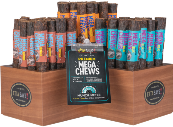 Premium Mega Chew Display