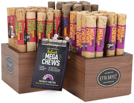 Select Mega Chew Display